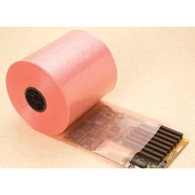 "Anime-Free Anti-Static Poly Tubing, 24""W x 750'L 4 Mil Pink, 1 Roll"