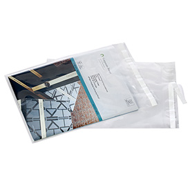 Clear Postal Approved Lip & Tape Mailing Bags, 9X12, 1000 per Case, Clear