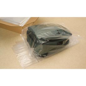 "Gusseted Poly Bags, 20"" x 16"" x 60"" 2 Mil Clear, 100/CASE"