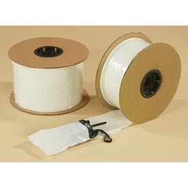 "Pre-Opened Bags, 8""W x 10""L 2 Mil White Front/Clear Back 1250 per Roll"