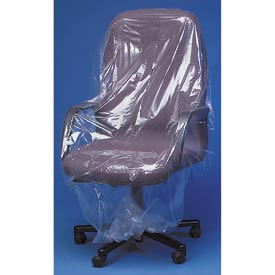 "Clear Furniture Bags 26"" Chair, 50X45, 300 per Roll, Clear"