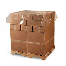 """Poly Pallet Top Sheeting, 60""""W x 72""""L 1.5 Mil Clear, 225 per Roll"""