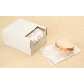 "Sandwich Bags in Dispenser Box, 7""W x 7""L 0.75 Mil Clear, 2000/CASE"