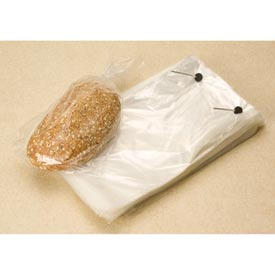 "Clear Wicketed Bread Bags 1.25 mil, 2.5"" Bottom Gusset, 8.75X15+2.5BG, 1000 per Case, Clear"