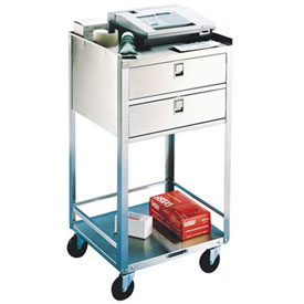 Lakeside® 358 Stainless Steel Equipment Stand, 2 Shelves, 2 Drawers, 300 lb. Capacity