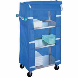 Lakeside® 442 Stainless Steel Linen Service Cart 400 Lb. Capacity