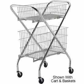 "Optional 6"" Wire Basket (4652) for Lakeside® Wire Cart"