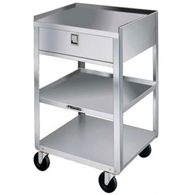 Lakeside® 466 Stainless Steel Equipment Stand, 3 Shelves, 1 Drawer, 500 lbs Capacity