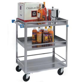 Lakeside® 526 Guard Rail Stainless Steel Utility Cart 31 x 19 x 33-3/4 500 Lb Cap