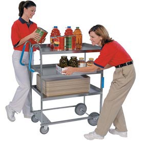 Lakeside® 5915 NSF HD Ergo-One 3 Shelf Cart 35-3/8 x 18-5/8 x 46-3/4 700 Lb Cap