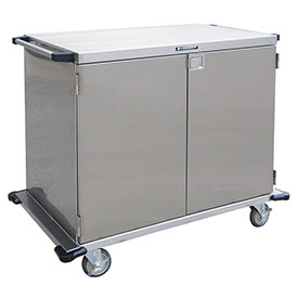 Lakeside® 6947 2 Door SS Case Cart without Center Post - 43 x 29 x 54