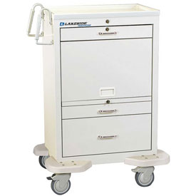 Lakeside® C-330-MUS-TW Unit Dose Medication Cart with Cassette, 20 Bins 3 Drawers