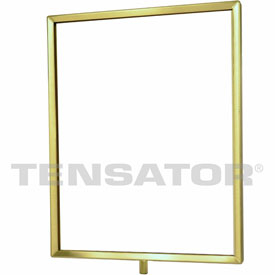 "Tensator Polished Brass 11""x14"" Light Duty Classic Sign Frame"