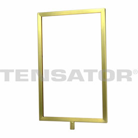 "Tensator Satin Brass 11""x14"" Light Duty Classic Sign Frame"
