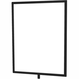 "Tensator Black 11""x14"" Light Duty Classic Sign Frame"