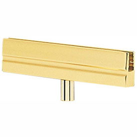 Tensabarrier Polished Brass Classic Sign Bracket
