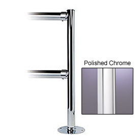 Tensabarrier Polished Chrome Dual Line Adapta-Rail 3-Way Post
