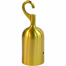 Tensator Satin Brass Hook Rope End