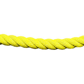 Tensator 1' L Yellow Twisted Rope