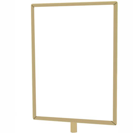 "Tensabarrier Satin Brass Light Duty 8.5""x11"" Sign Frame"