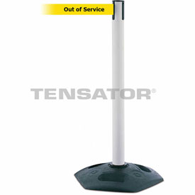 Tensabarrier Yellow Heavy Duty Post 7.5'L BLK/YLW Out of Service Retractable Belt Barrier