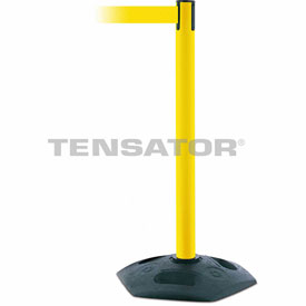 Tensabarrier Yellow Heavy Duty Post 7.5'L Yellow Retractable Belt Barrier