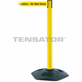 Tensabarrier Yellow Heavy Duty Post 7.5'L BLK/YLW Caution-Do Not Enter Retractable Belt Barrier