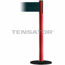 Tensabarrier Red Plus Advance 7.5'L Dark Green Retractable Belt Barrier