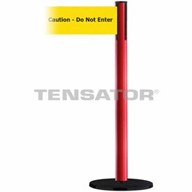 Tensabarrier Red Plus Advance 7.5'L BLK/YLW Caution-Do Not Enter Retractable Belt Barrier