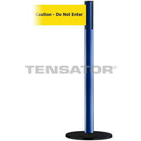 Tensabarrier Blue Plus Advance 7.5'L BLK/YLW Caution-Do Not Enter Retractable Belt Barrier
