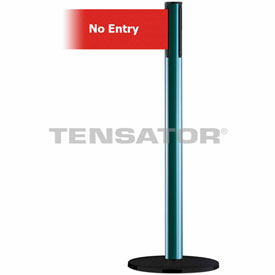 Tensabarrier Green Plus Advance 7.5'L Red/White No Entry Retractable Belt Barrier