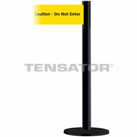 Tensabarrier Black Plus Advance 7.5'L BLK/YLW Caution-Do Not Enter Retractable Belt Barrier