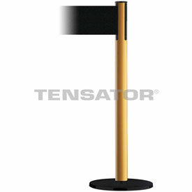 Tensabarrier Yellow Plus Advance 7.5'L Black Retractable Belt Barrier