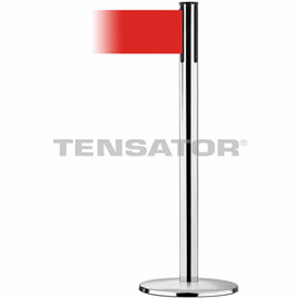 Tensabarrier Pol Chrome Plus Advance Universal 7.5'L Red Retractable Belt Barrier