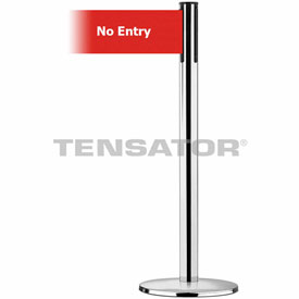 Tensabarrier Pol Chr Plus Adv Univ 7.5'L Red/Wht No Entry Retractable Belt Barrier