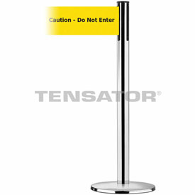Tensabarrier Pol Chr Plus Adv Univ 7.5'L BLK/YLW Caution-Do Not Enter Retractable Belt Barrier