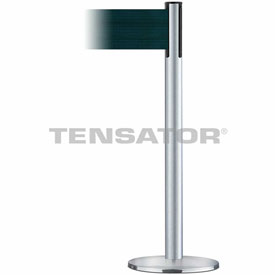 Tensabarrier Satin Chr Plus Adv Univ 7.5'L Dark Green Retractable Belt Barrier