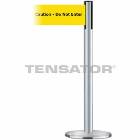 Tensabarrier Satin Chr Plus Adv Univ 7.5'L BLK/YLW Caution-Do Not Enter Retractable Belt Barrier