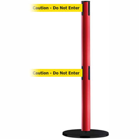 Tensabarrier Blue Advance Dual Line 7.5'L BLK/YLW Caution-Do Not Enter Retractable Belt Barrier