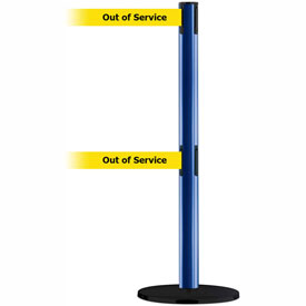 Tensabarrier Blue Advance Dual Line 7.5'L BLK/YLW Out of Service Retractable Belt Barrier