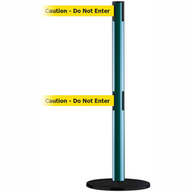 Tensabarrier Green Advance Dual Line 7.5'L BLK/YLW Caution-Do Not Enter Retractable Belt Barrier