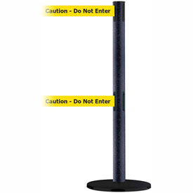 Tensabarrier BLK Wrinkle Adv Dual Line 7.5'L BLK/YLW Caution-Do Not Enter Retractable Belt Barrier