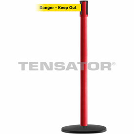 Tensabarrier Red Slimline 7.5'L BLK/YLW Danger-Keep Out Retractable Belt Barrier