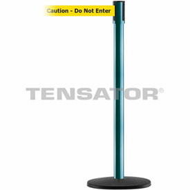 Tensabarrier Green Slimline 7.5'L BLK/YLW Caution-Do Not Enter Retractable Belt Barrier