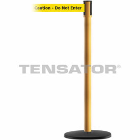 Tensabarrier Yellow Slimline 7.5'L BLK/YLW Caution Do Not Enter Retractable Belt Barrier