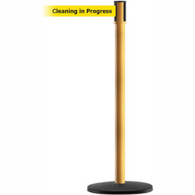 Tensabarrier Yellow Slimline 7.5'L BLK/YLW Cleaning In Progress Retractable Belt Barrier