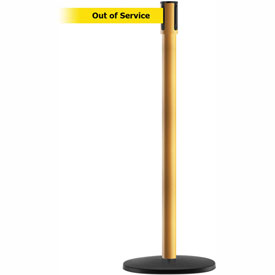 Tensabarrier Yellow Slimline 7.5'L BLK/YLW Out of Service Retractable Belt Barrier