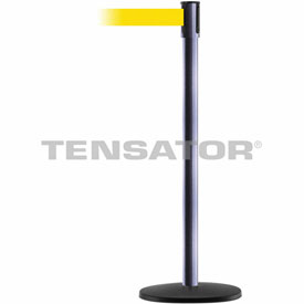 Tensabarrier Hammer Gray Slimline 7.5'L Yellow Retractable Belt Barrier