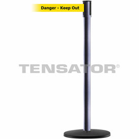 Tensabarrier Hammer Gray Slimline 7.5'L BLK/YLW Danger-Keep Out Retractable Belt Barrier