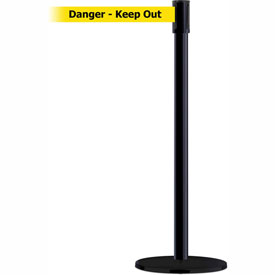 Tensabarrier Black Slimline 7.5'L BLK/YLW Danger-Keep Out Retractable Belt Barrier